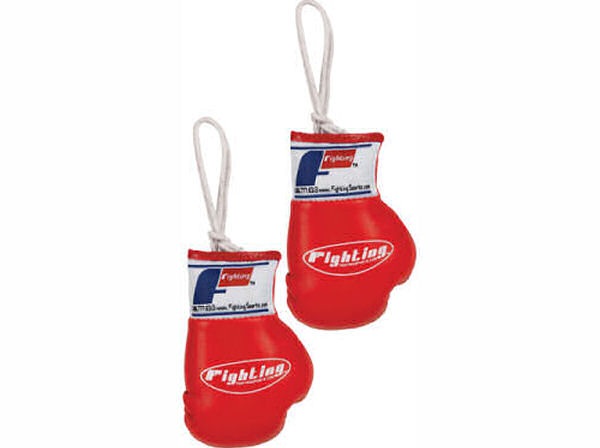 Fighting Sports Mini Replica Hanging Boxing Gloves - Red