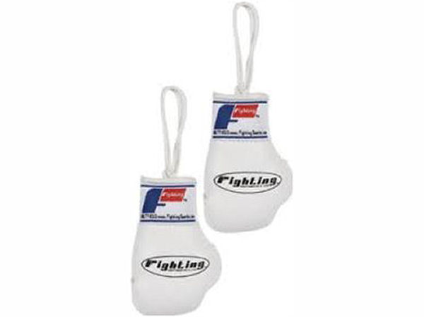 Fighting Sports Mini Replica Hanging Boxing Gloves - White